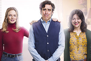 Bliss. Image shows from L to R: Kim (Heather Graham), Andrew (Stephen Mangan), Denise (Jo Hartley). Copyright: Big Talk Productions.