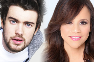 Bounty Hunters. Image shows from L to R: Barnaby Walker (Jack Whitehall), Rita Morales (Rosie Perez).