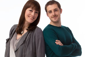 Boy Meets Girl. Image shows from L to R: Judy (Rebecca Root), Leo (Harry Hepple). Copyright: Tiger Aspect Productions.