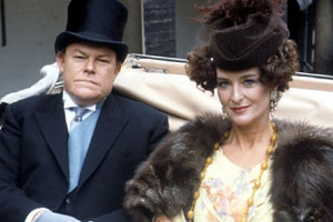 Brass. Image shows from L to R: Bradley Hardacre (Timothy West), Lady Patience Hardacre (Caroline Blakiston). Copyright: Granada Television.