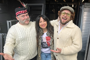 Bridge & Allen Together Again. Image shows from L to R: Duncan Bridge (Archibald Easton), KT Tunstall, Alan Allen (Mike Keat). Copyright: BBC.