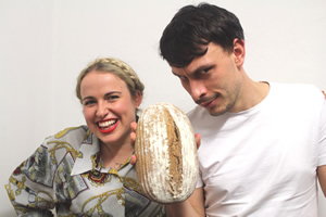Brown Bread. Image shows from L to R: Anneka Harry, Richard Gadd.