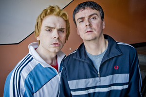 Burnistoun. Image shows from L to R: Robert Florence, Iain Connell. Copyright: The Comedy Unit.