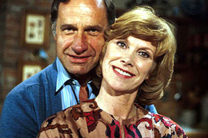 Butterflies. Image shows from L to R: Ben Parkinson (Geoffrey Palmer), Ria Parkinson (Wendy Craig).