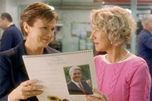 Calendar Girls. Image shows from L to R: Annie (Julie Walters), Chris (Helen Mirren). Copyright: Calendar Girls Productions.