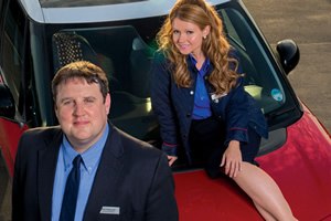 Car Share. Image shows from L to R: John Redmond (Peter Kay), Kayleigh Kitson (Sian Gibson). Copyright: Goodnight Vienna Productions.