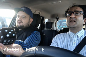 Carpool Karate. Image shows from L to R: Kit Johnstone, Sandip Mahal.