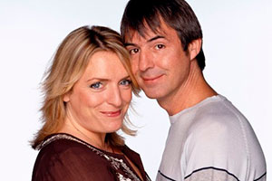 Carrie & Barry. Image shows from L to R: Carrie (Claire Rushbrook), Barry (Neil Morrissey). Copyright: Hartswood Films Ltd.