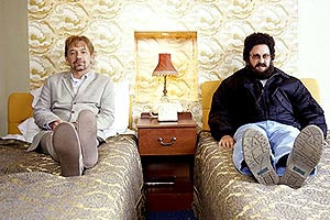 Catterick. Image shows from L to R: Carl (Bob Mortimer), Chris (Vic Reeves).