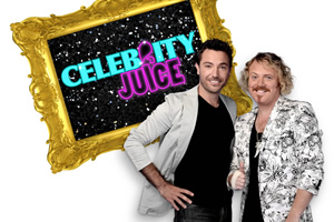 Celebrity Juice. Image shows from L to R: Gino D'Acampo, Leigh Francis.
