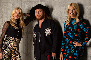 Celebrity Juice. Image shows from L to R: Fearne Cotton, Leigh Francis, Holly Willoughby.