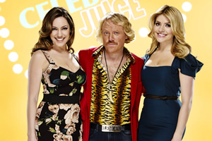 Celebrity Juice. Image shows from L to R: Kelly Brook, Leigh Francis, Holly Willoughby.