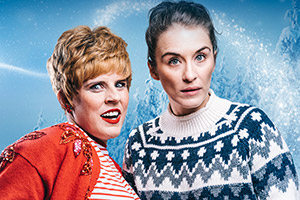 Charity Shop Sue's Xmas. Image shows from L to R: Sue Tuke (Selina Mosinski), Vicky McClure.