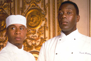 Chef!. Image shows from L to R: Everton Stonehead (Roger Griffiths), Gareth Blackstock (Lenny Henry).