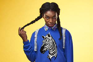Michaela Coel working on Chewing Gum 3