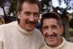 ChuckleVision. Image shows from L to R: Paul Chuckle (Paul Elliott), Barry Chuckle (Barry Elliott).
