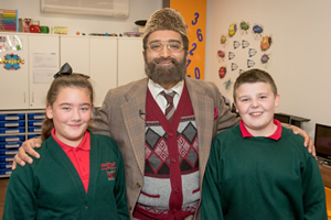 Citizen Khan. Image shows from L to R: Unknown, Mr Khan (Adil Ray), Unknown. Copyright: BBC.