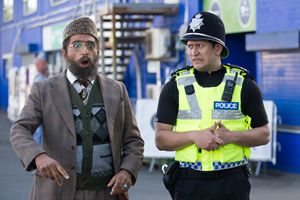 Citizen Khan. Image shows from L to R: Mr Khan (Adil Ray), Amjad (Abdullah Afzal). Copyright: BBC.