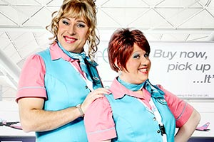 Come Fly With Me. Image shows from L to R: David Walliams, Matt Lucas.