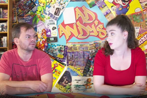 A Comedy Of Gamers. Image shows from L to R: Georgia (Amber Doig-Thorne), Andy (Jon Beck).