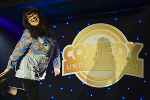 The Comedy Underground. Ashley Storrie. Copyright: Dabster Productions.