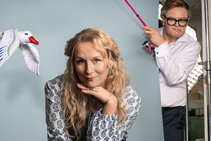 Mamma Mia Here We Go Yet Again!. Image shows from L to R: Meryl Streep (Jennifer Saunders), Colin Firth (Alan Carr). Copyright: BBC / Comic Relief.