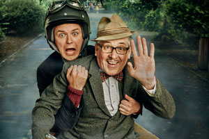 Count Arthur Strong. Image shows from L to R: Michael Baker (Rory Kinnear), Count Arthur Strong (Steve Delaney).