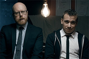Criminal Audition. Image shows from L to R: William (Rich Keeble), Ryan (Luke Kaile).
