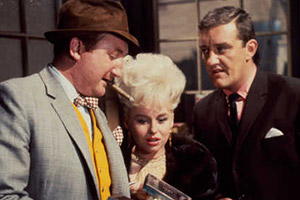 Crooks In Cloisters. Image shows from L to R: Walter (Ronald Fraser), Bikini (Barbara Windsor), Squirts (Bernard Cribbins). Copyright: STUDIOCANAL.