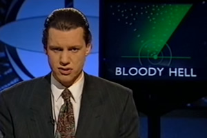 The Day Today. Chris Morris. Copyright: TalkbackThames.