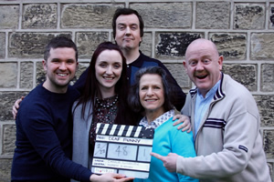 Deaf Funny. Image shows from L to R: Charlie Swinbourne, Rebecca Withey, Ben Rufus Green, Jean St. Clair, John Smith.