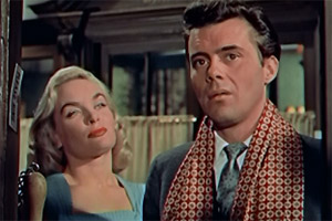 Doctor In The House. Image shows from L to R: Millicent 'Milly' Groaker (Shirley Eaton), Simon Sparrow (Dirk Bogarde).