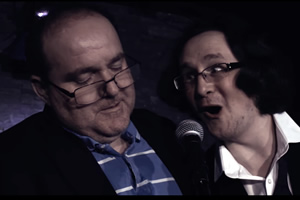 Double Act. Image shows from L to R: Edward Aczel, Michael Brunström. Copyright: Turtle Canyon Comedy.