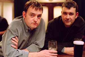 Early Doors. Image shows from L to R: Joe (Craig Cash), Duffy (Phil Mealey). Copyright: Phil McIntyre Entertainment.