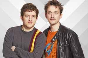 Image shows from L to R: Elis James, John Robins.