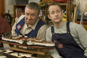 Empty. Image shows from L to R: Jacky (Gregor Fisher), Tony (Billy Boyd). Copyright: The Comedy Unit.