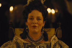 The Favourite. Queen Anne (Olivia Colman).