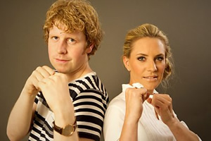 Fighting Talk. Image shows from L to R: Josh Widdicombe, Georgie Ainslie. Copyright: World's End Productions.