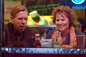 Finding Your Feet. Image shows from L to R: Timothy Spall, Sandra (Imelda Staunton). Copyright: Entertainment One / Tom Vandeputte.