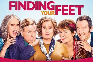Finding Your Feet. Image shows from L to R: Jackie (Joanna Lumley), Charlie (Timothy Spall), Bif (Celia Imrie), Sandra (Imelda Staunton), Ted (David Hayman).