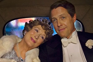 Florence Foster Jenkins. Image shows from L to R: Florence (Meryl Streep), St Clair Bayfield (Hugh Grant).