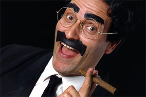 Flywheel, Shyster And Flywheel. Groucho Marx as Waldorf T Flywheel (Michael Roberts). Copyright: BBC.