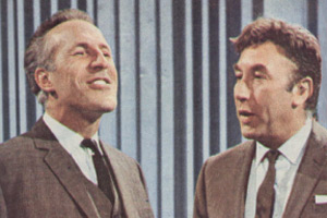 Frankie And Bruce. Image shows from L to R: Bruce Forsyth, Frankie Howerd. Copyright: ABC Television.