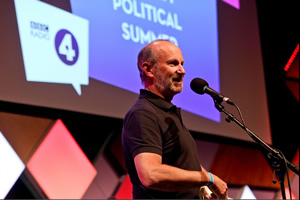 Fred MacAulay's Wet Hot Political Summer. Fred MacAulay. Copyright: BBC.