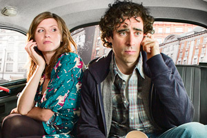 Free Agents. Image shows from L to R: Helen Ryan (Sharon Horgan), Alex Taylor (Stephen Mangan).