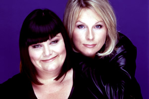 French And Saunders. Image shows from L to R: Dawn French, Jennifer Saunders.