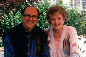 French Fields. Image shows from L to R: William Fields (Anton Rodgers), Hester Fields (Julia McKenzie). Copyright: Thames Television.