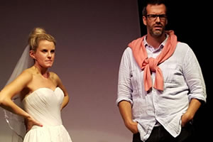 Image shows from L to R: Anna Morris, Marcus Brigstocke.
