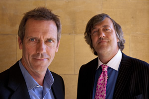 Fry And Laurie: Reunited. Image shows from L to R: Hugh Laurie, Stephen Fry.