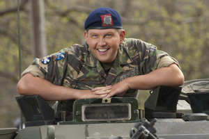 Gary: Tank Commander. Gary McLintoch (Greg McHugh). Copyright: The Comedy Unit.